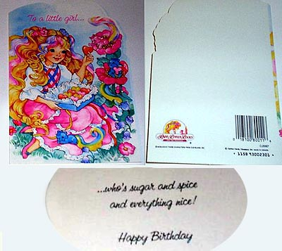 Greeting card with birthday message
