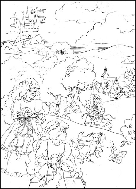 Lady Lovely Locks Coloring Pages Coloring Page
