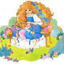 Maiden FairHair brushing her hair